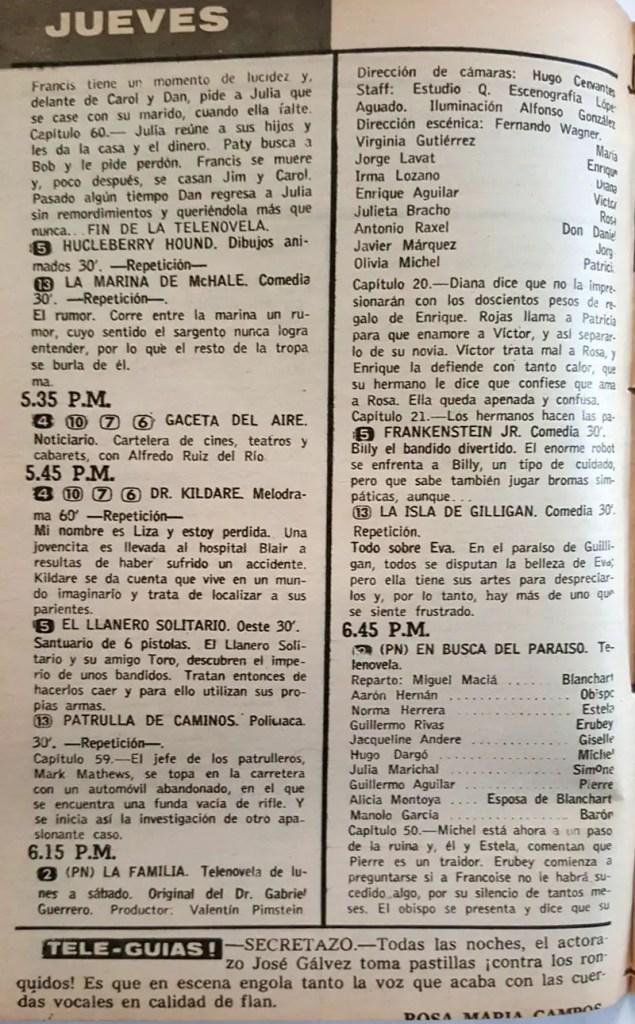 Revista Tele Guía 23 de enero de 1969 - Parte 2/8