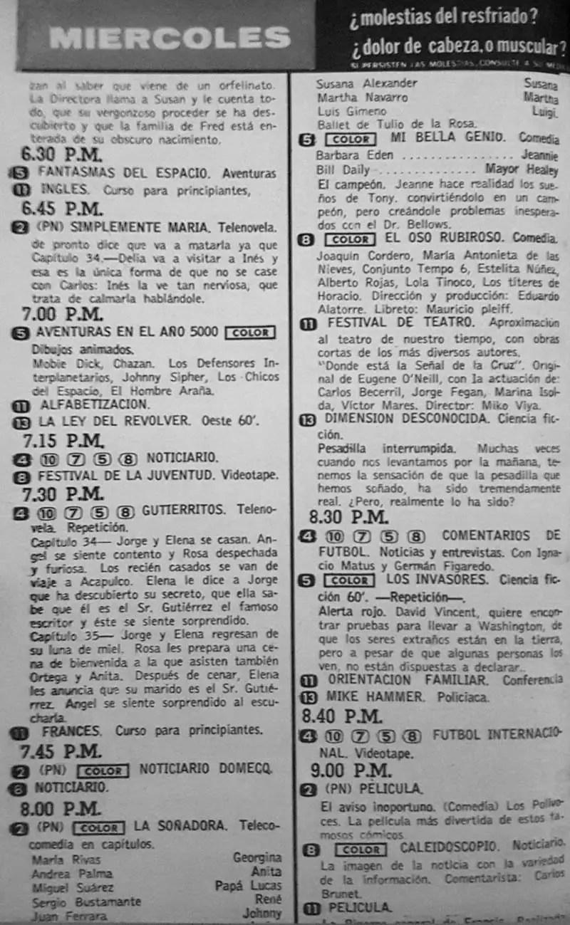 Revista Tele Guía 22 de enero de 1970 - Parte 5/6