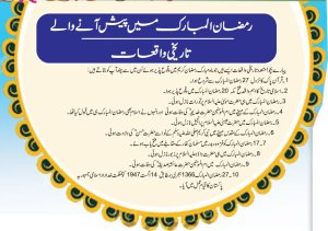 10 Islamic Historical Events In Ramadan Pakistan History As well