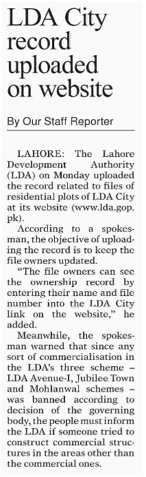 Check Your LDA City Plot File Record Online