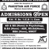 Fazaia College For Education For Women Admission 2017 Open FA FSc ICS ICOM