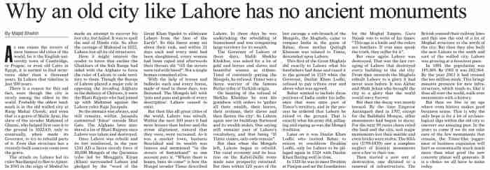 History Of Lahore