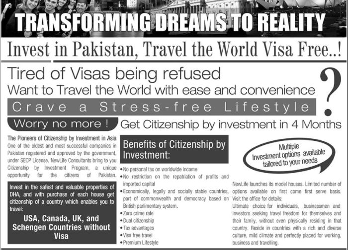 Pakistan Investment Opportunities Benefits Of Pak Citizenship By Investment