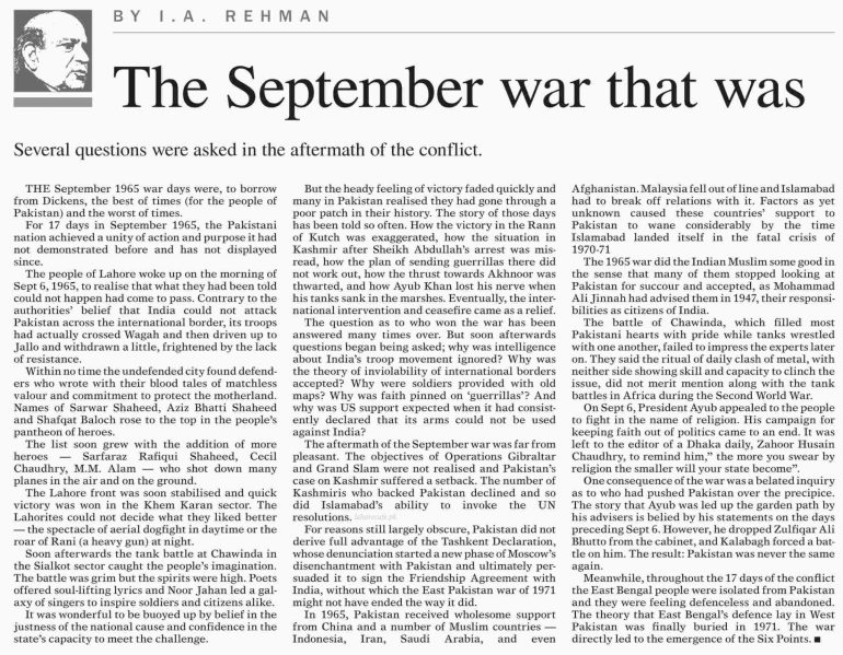 6 september defence day speech