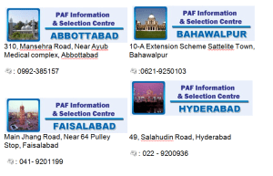 PAF Selection Centres And Information Centres List And Contacts