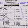 Lahore Board 9th Class English Past Paper For 2016 Objective Essay Type