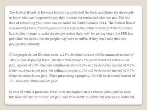 Benefits Of Tax Return Pakistan Filing Income Tax Return In Pak