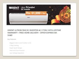 Orient Inverter AC 1 Ton Price In Pakistan 2017 DC Ultron E Comfort Features