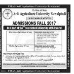 Arid Agriculture University Attock Campus Admissions Fall 2017 Bsc Agriculture Fsc Pre Agriculture