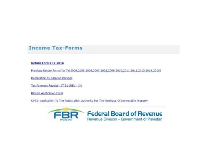 Income Tax Return Salaried Person Pakistan Form Download