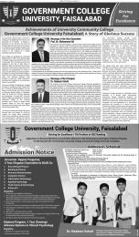 Diploma In Clinical Psychology In Faisalabad Admission 2017 GC University Last Date