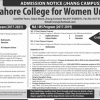 LCWU MS Programs Masters Admissions 2017 Form Download Online Apply