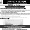 Punjab University M.Phil In History Admission 2017 Form, Last Date, Eligibility Criteria
