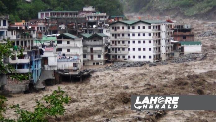 Glacial burst causes floods