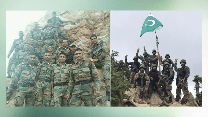 Pakistani and Indian militaries