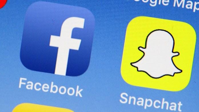 Snapchat and facebook