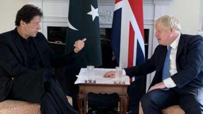 imran khan with uk pm