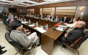 Ch Nisar Ali Khan is in party meeting