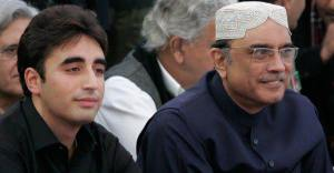 Bilawal Bhuttoo with his father Asif Ali Zardari