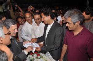 Imran Khan is submitting his papers for party elections