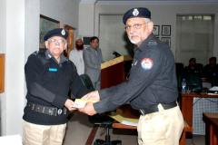 Sp Multan Khan is receiving cash reward from IGP for his best performance