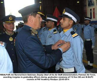 awarding insignia
