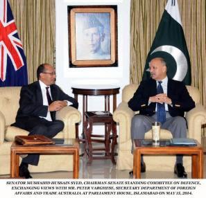 Australiaian delegation meet pak defence committee2