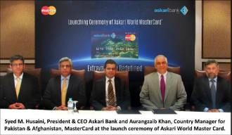 Askari Bank Launches Master Card - English Pic
