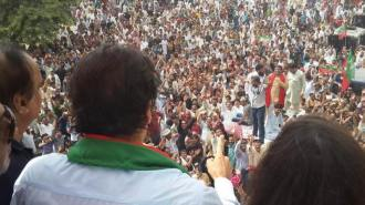 Imran Khan addresses crowds after claims gunshots were fired at his vehicle1