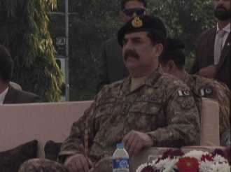 Army Chief is watching passing out parade