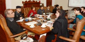 Meeting with Chair Person of Child Protection Bureau Saba Sadiq