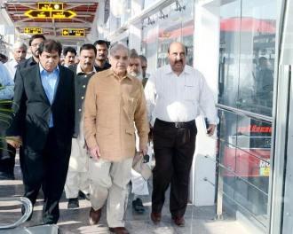 Chief Minister Punjab Shahbaz Sharif visits Rawalpindi-Islamabad metro bus project