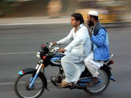 pillion riding