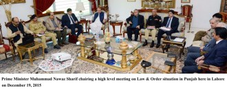 Nawaz Sharif chairs a meeting to review law & order situation