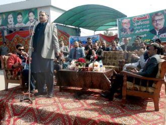 Governor Gilgit Baltiatan and Federal Minister for Kasmir Affairs Muhammad Barjees Tahir