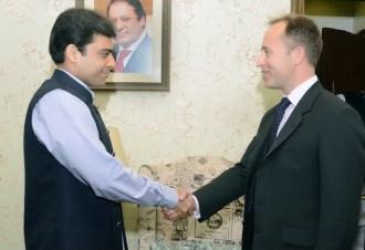British High Commissioner Thomas Drew calls on MNA Hamza Shahbaz