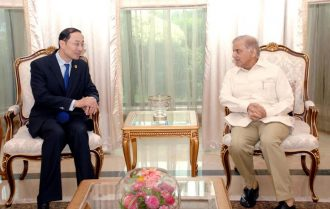 Shahbaz Sharif calls on Chinese Ambassador to Pakistan Sun Weidong met in Islamabad