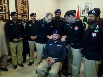 dig-dr-haider-ashraf-is-pinning-the-ranks-of-dsp-to-newly-promoted-inspector-zulfiqar-butt