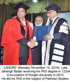 punjab-university-vc-condoles-jahangir-badrs-death
