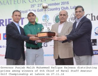 Ghazanfar Mehmood wins the 6th Chief of Naval Staff Golf title