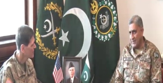 General Joseph L Votel calls on COAS General Qamar Javed Bajwa