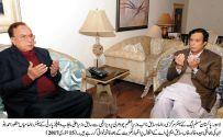 Mian Manzoor Wattoo condoles with Ch Parvez Elahi