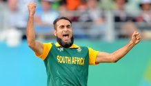 Imran Tahir became South Africa's all-time leading wicket taker at World Cups