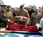 All the 7 martyred of the police laid to rest