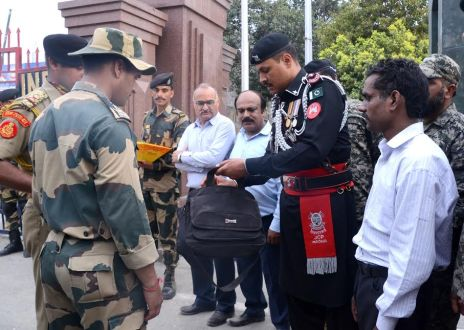 Punjab Rangers handed over an Indian National to BSF authorities at wagha today