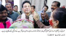 Khalil Tahir Sandhu participated the celebrations of Holi at Krishna Mandir