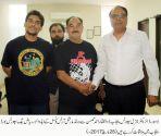 World Martial Arts council advisor Riaz baig calls on DG Sports Punjab