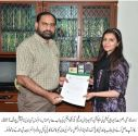 Kaneez Fatima won EMMCMSP scholarship