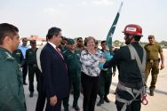 Swedish Ambassador Ingrid Johansson visits Rescue 1122's HQrs