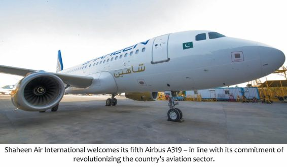 Shaheen Air International Welcomes its Fifth Airbus A319